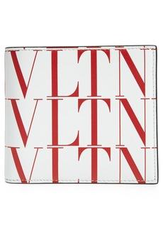 Men's Valentino Garavani Vltn Times Leather Bifold Wallet - White