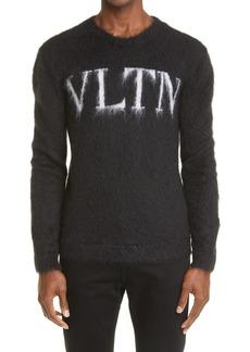 Men's Valentino Vltn Logo Mohair Blend Sweater