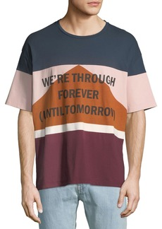 "Valentino Men's ""We're Through Forever"" Crewneck T-Shirt"