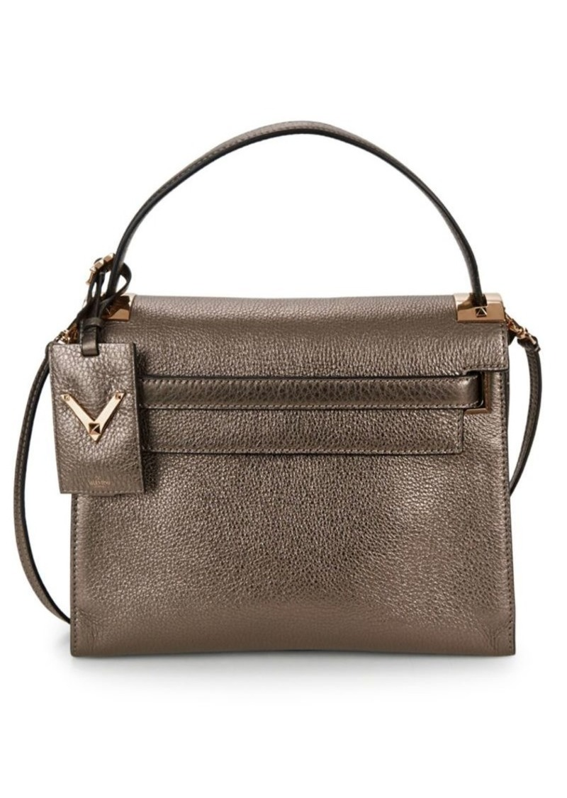Valentino Metallic Top Handle Bag