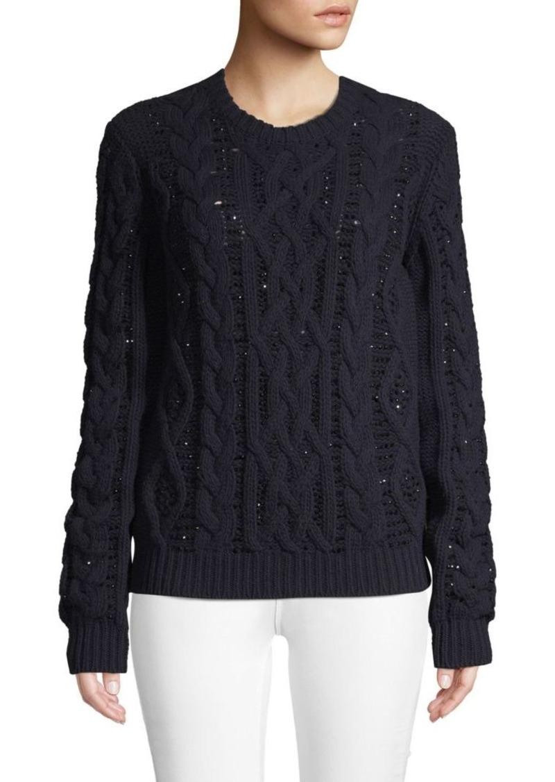 Valentino Metallic Wool & Cashmere Blend Sweater
