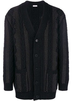 Valentino microstud cable knit cardigan