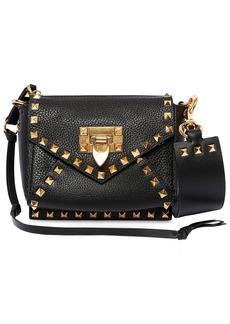 Valentino Mini Rockstud Hype Grained Leather Bag