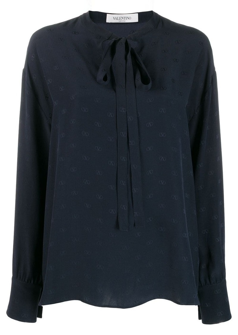 Valentino mini Vlogo pussycat bow blouse