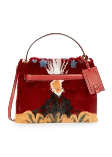 Valentino Mink Fur and Leather Top Handle Bag