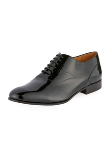 Valentino Mirrored Leather Lace-Up Oxford