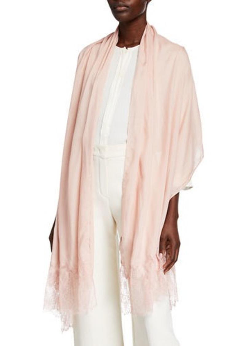 Valentino Modal Lace-Trim Stole
