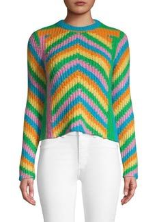 Valentino Multicolored Chevron Sweater