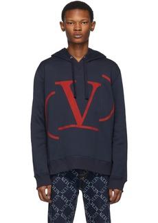 Valentino Navy VLogo Hoodie