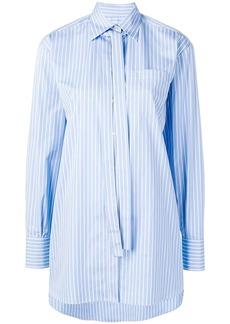 Valentino necktie detail striped shirt