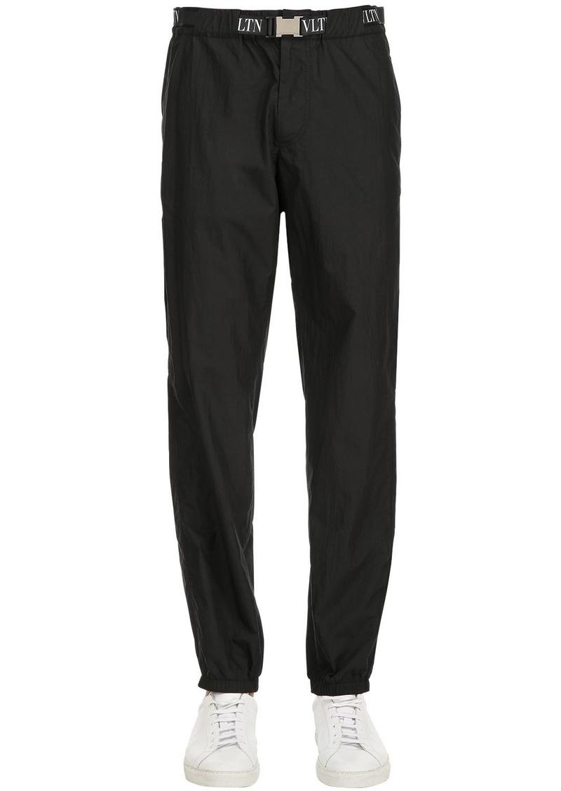 Valentino Nylon Track Pants W/ Vltn Belt