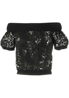 Valentino off the shoulder lace top
