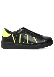 Valentino Open Leather Sneakers W/logo