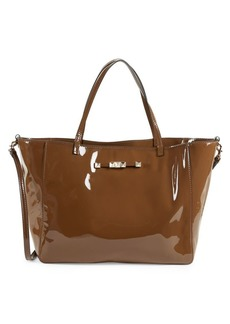 Valentino Open-Top Leather Shoulder Bag