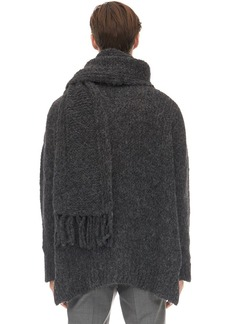 Valentino Oversize Alpaca Blend Scarf Sweater