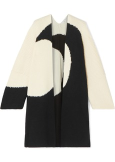 Valentino Oversized Intarsia Wool Cardigan