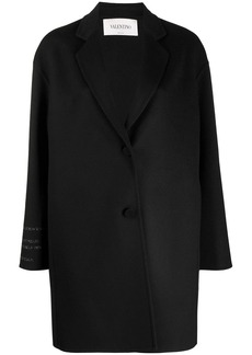 Valentino oversized single-breasted coat