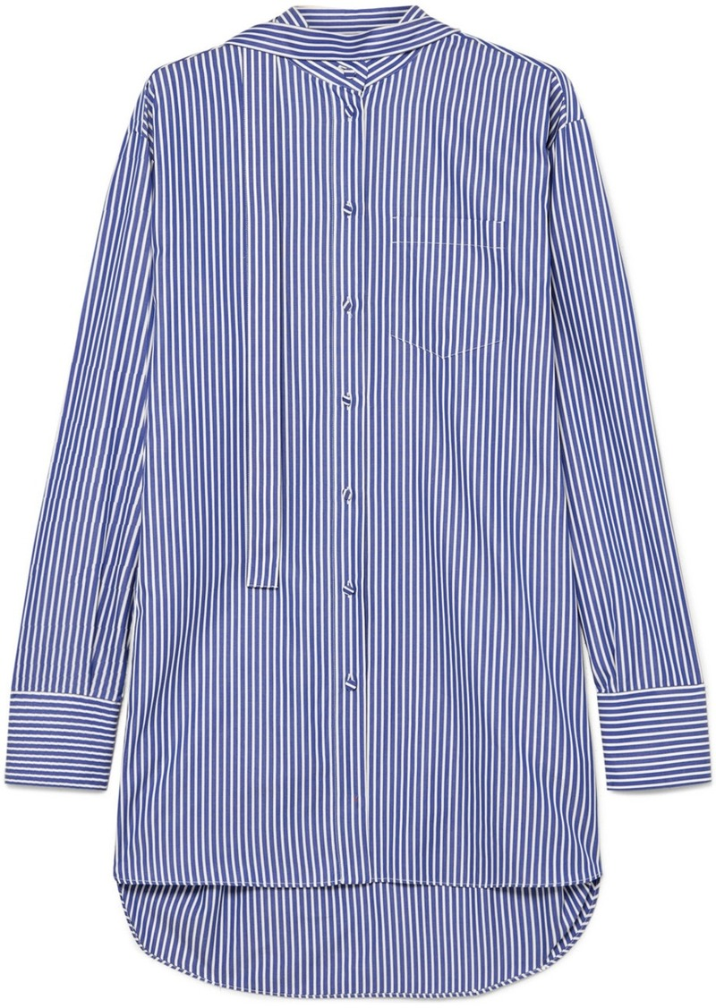 Valentino Oversized Striped Cotton-poplin Shirt