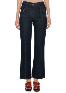 Valentino Patch Pocket V-Hardware Ankle Jeans