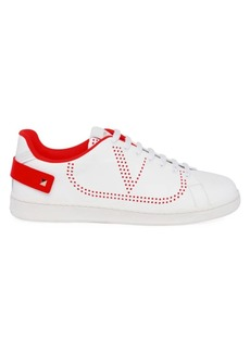 Valentino Garavani Perforated V Logo Leather Sneakers