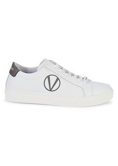 Valentino Petra Leather Low-Top Sneakers