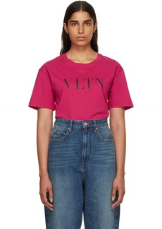 Valentino Pink 'VLTN' T-Shirt
