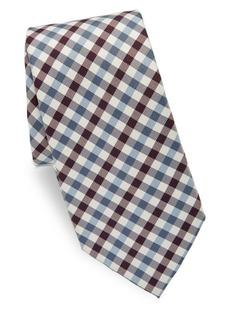 Valentino Plaid Silk Tie