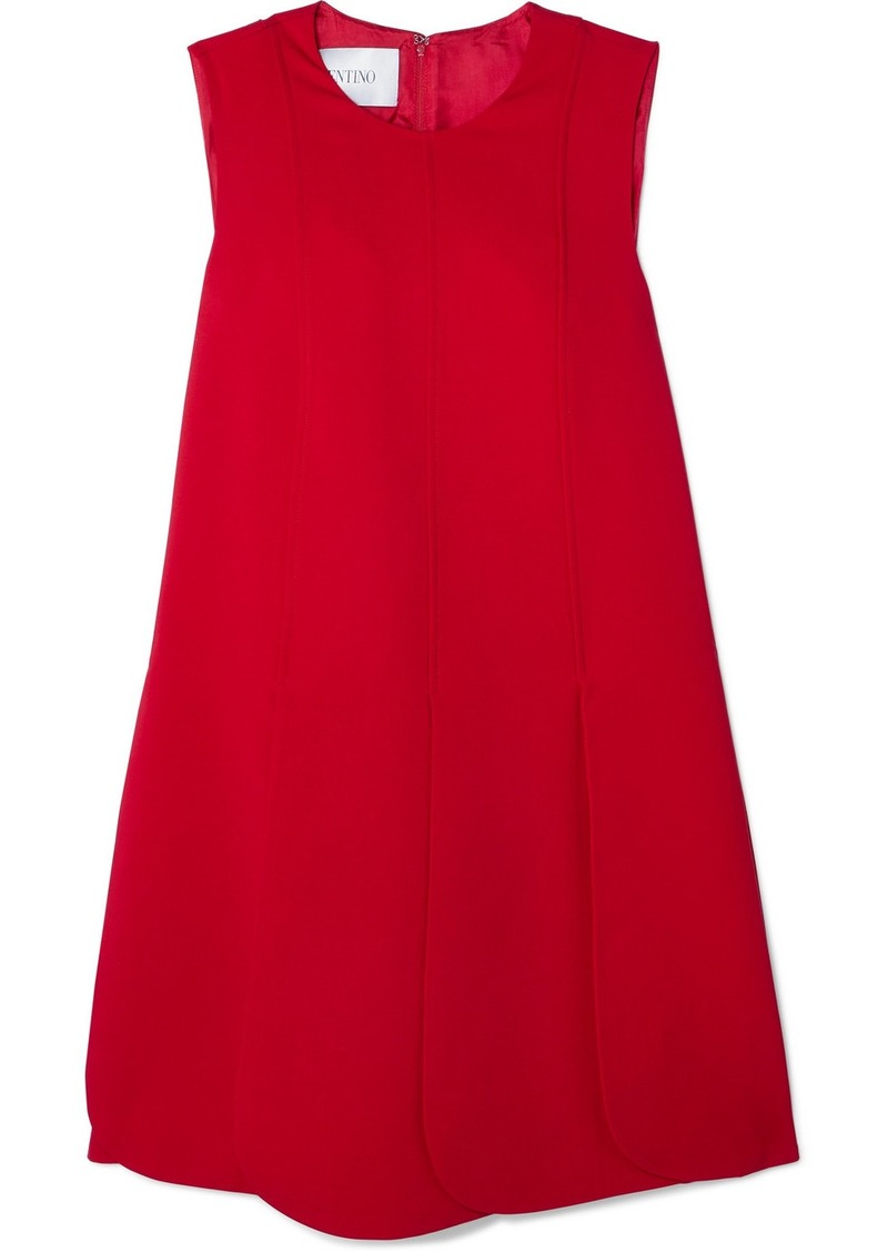 Valentino Pleated Silk-crepe Mini Dress
