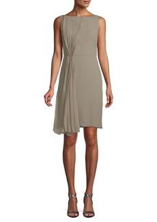 Valentino Pleated Sleeveless Silk Dress