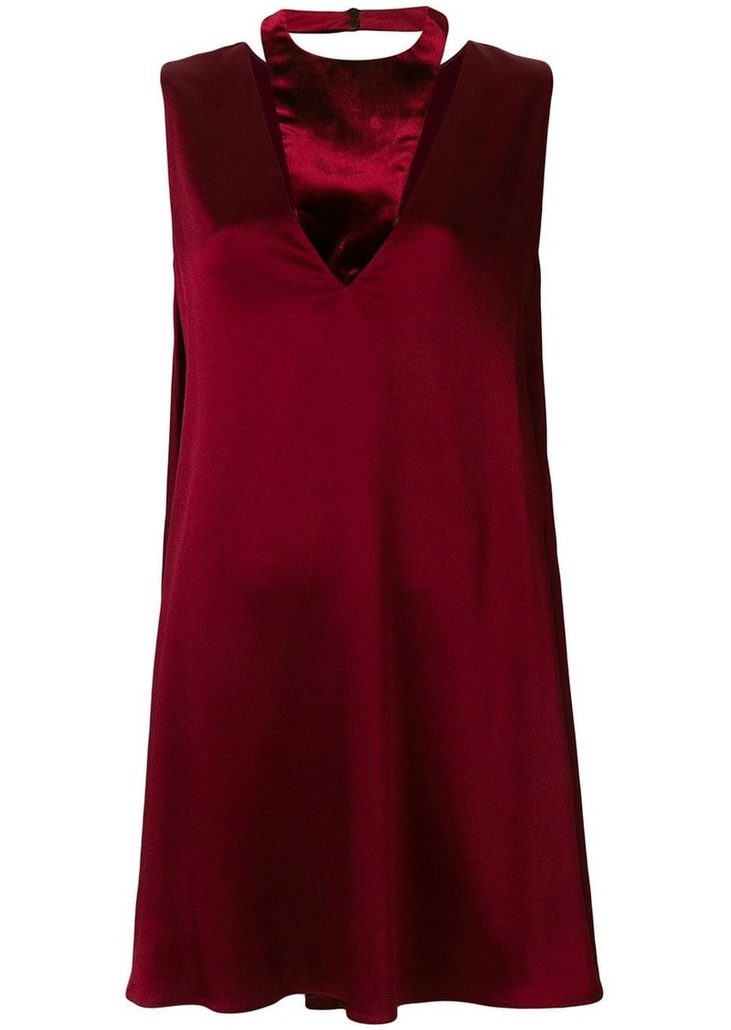 Valentino plunge-neck shift dress