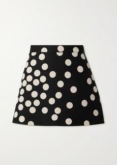 Valentino Polka-dot Wool And Silk-blend Shorts