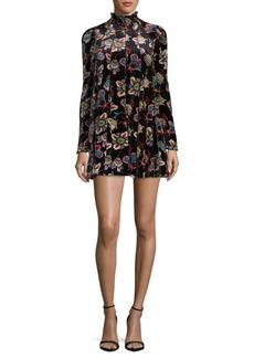 Valentino Pop Floral Velvet Dress