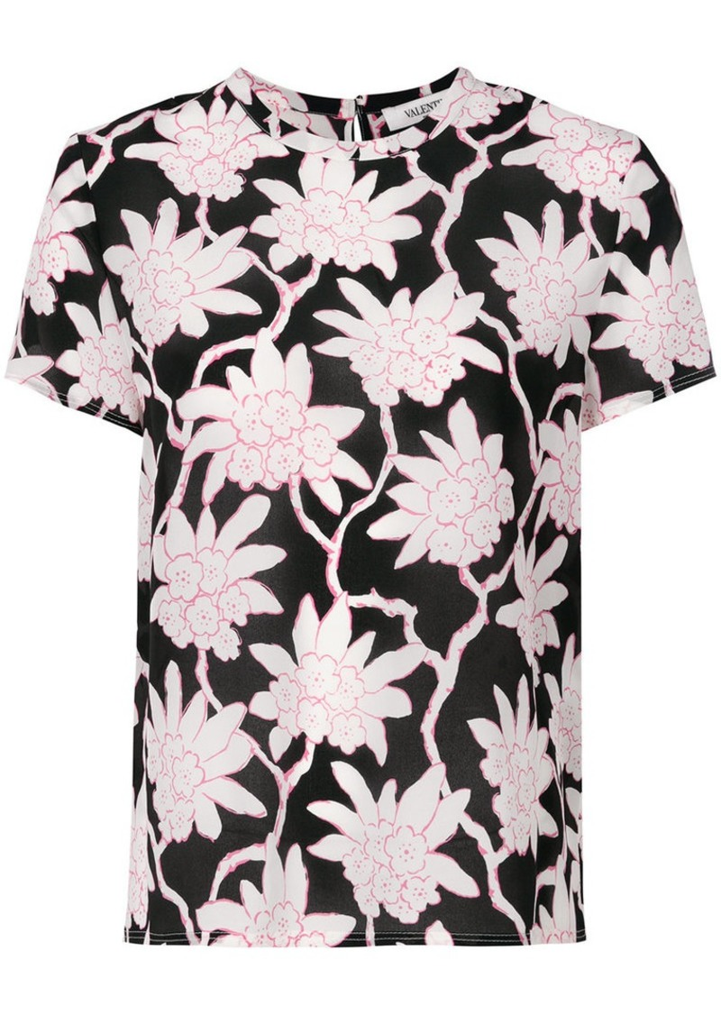 Valentino Popflowers print top