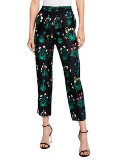 Valentino Primavera Silk Twill Jogger Pants
