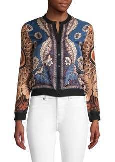 Valentino Printed & Cropped Cardigan