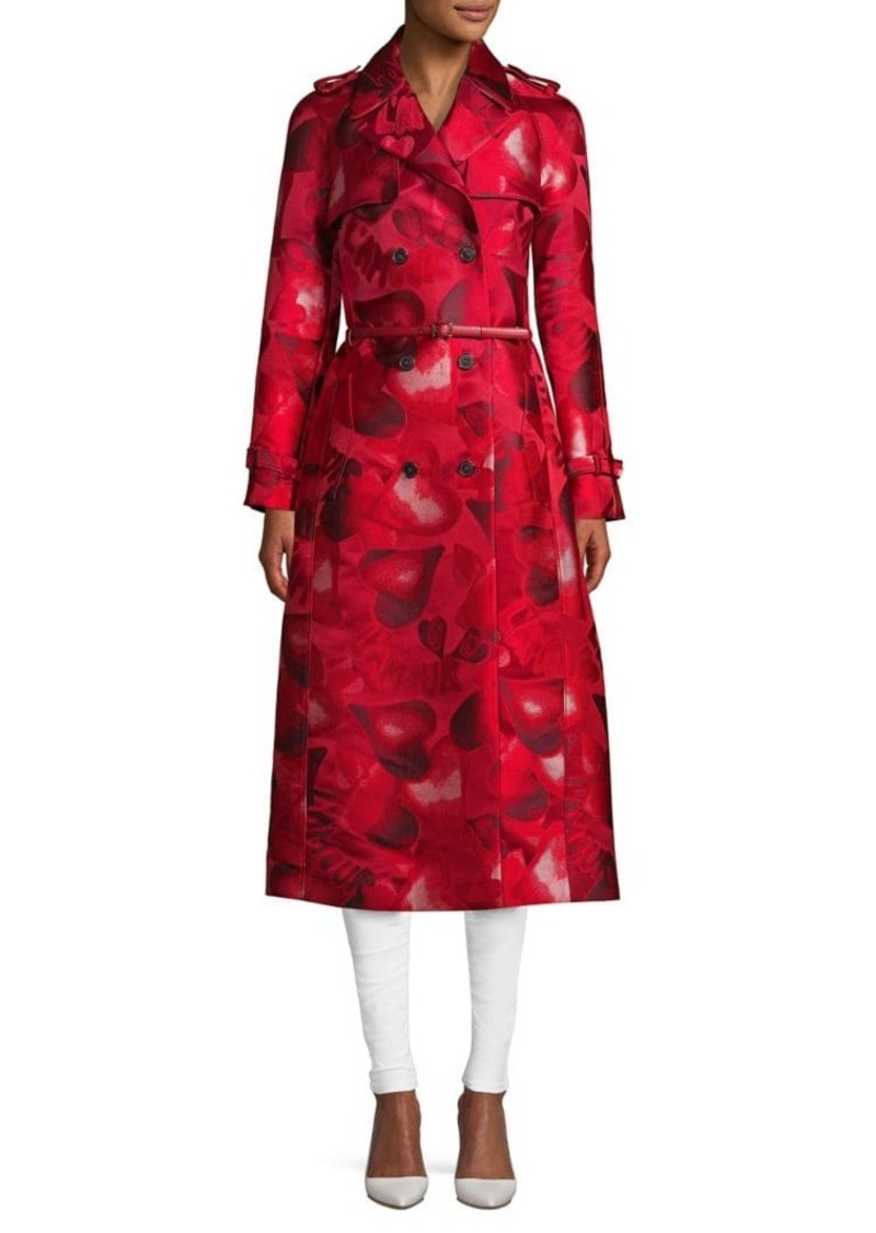 Valentino Printed Belted Long Coat