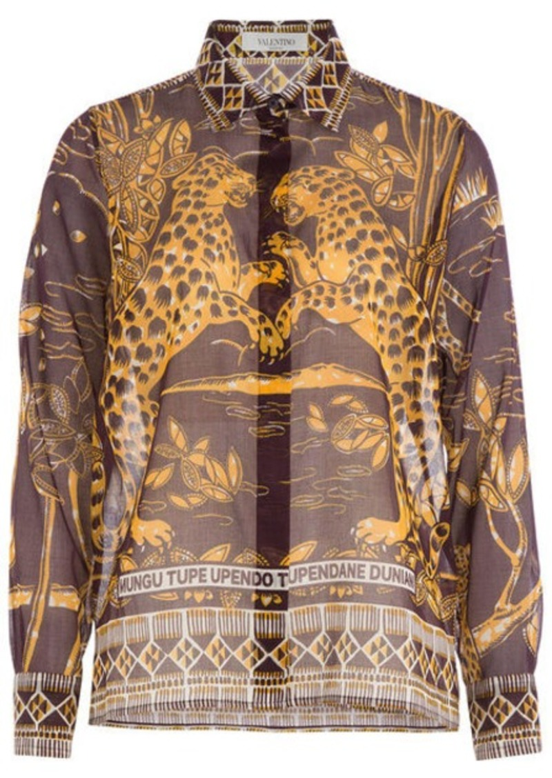 Valentino Printed Cotton Blouse