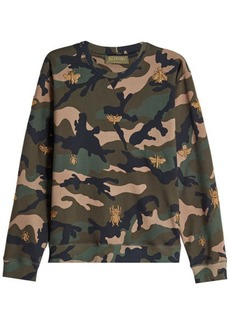 Valentino Printed Cotton Sweatshirt with Embellishment
