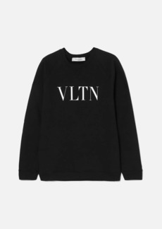 Valentino Printed cotton-terry sweatshirt