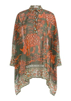 Valentino Printed Cotton Tunic Top