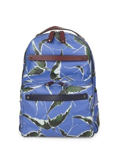 Valentino Printed Leather Backpack