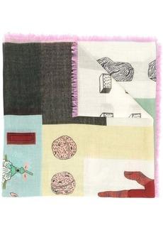 Valentino printed shawl