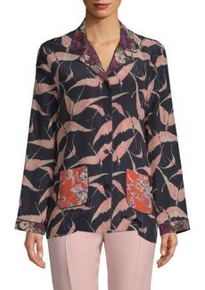 Valentino Printed Silk Button-Down Shirt