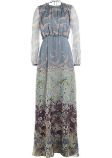 Valentino Printed Silk Maxi Dress