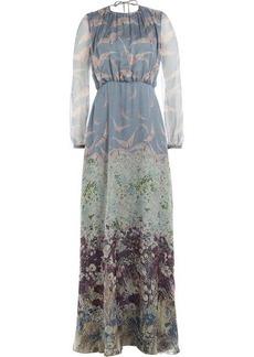Valentino Printed Silk Maxi Dress
