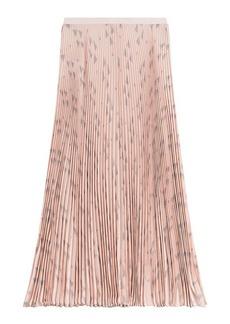 Valentino Printed Silk Pleated Skirt