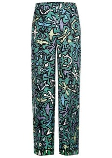 Valentino Printed silk trousers