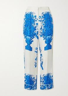 Valentino Printed Silk-twill Wide-leg Pants