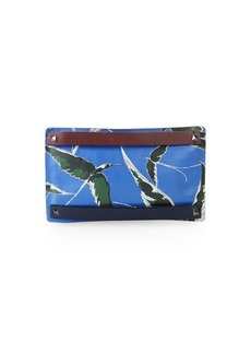 Valentino Printed Small Leather Clutch