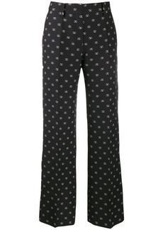 Valentino printed Vlogo straight trousers